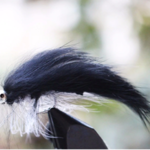 Black Zonker Streamer Fly - GrejMarkedet