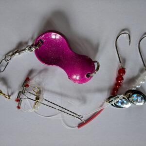 Dit Fladfiskeforfang - Rød Hvide Perler og Ske