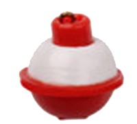 Pilotfloat Mini RedWhite with Lineclip - GrejMarkedet