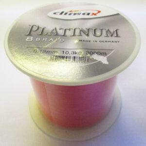 Climax Platinum 8 Braid - Bulk Spole 3000m, 0.12mm, 10.3kg, Red - GrejMarkedet