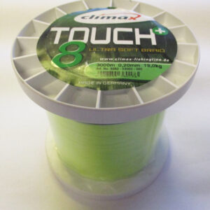 Climax TouchPlus 8 Ultra Soft Braid, Bulk Spole 3000m, 0.20mm, 19.0kg, Fluoro Yellow - GrejMarkedet