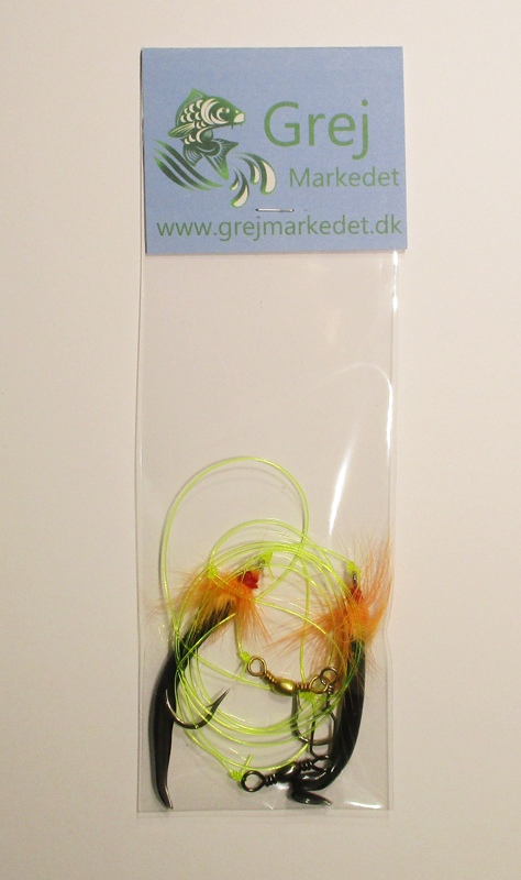 Cod Rig with 2 Flies Size 2-0 GrejMarkedet