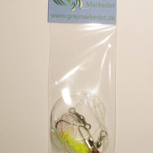 Cod Rig with 2 Flies Size 4-0 GrejMarkedet