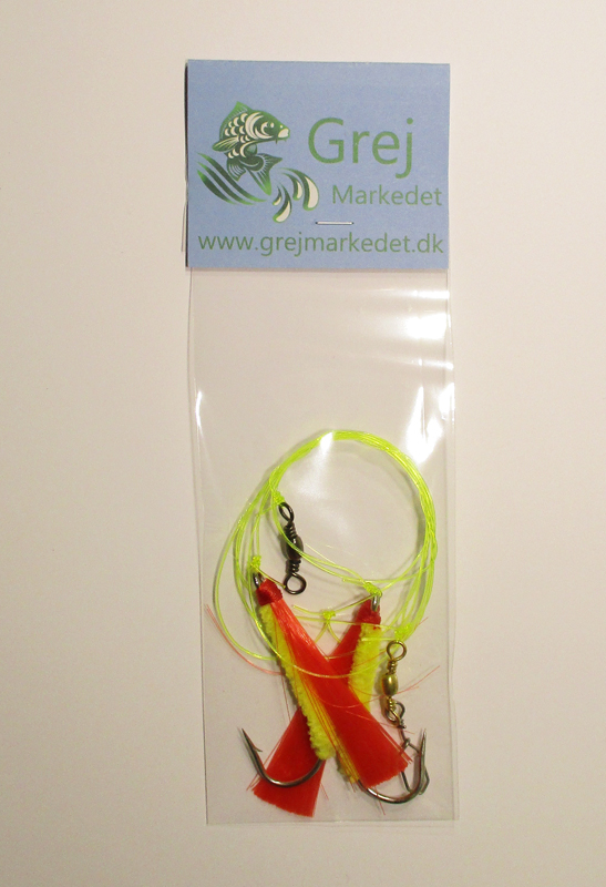 Cod Rig with 2 Flies Size 7-0 GrejMarkedet