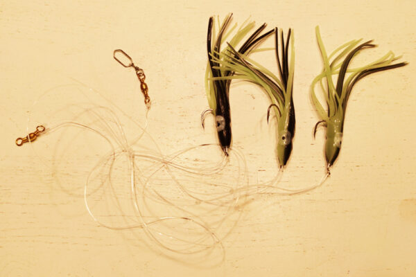 Torskeforfang med 3 sort-selvlysende sprutter str 5-0 GrejMarkedet
